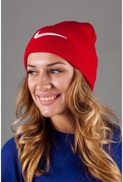 Женская спортивная шапка Nike-DarkRed