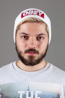 Мужская шапка ObeyWhite
