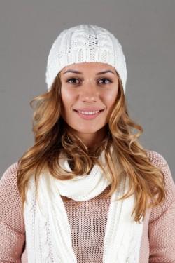 зимние шапки, Женский комплект W-Luxury 627K-8