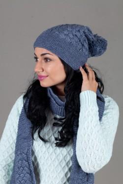 зимние шапки, Женский комплект W-Luxury 9201KB-20
