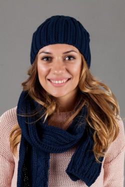 зимние шапки, Женский комплект W-Luxury 630K-127