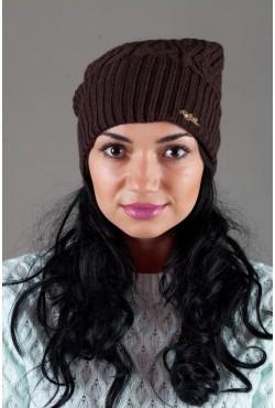 Женская вязанная шапка Atrics WH316-Brown