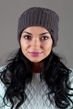 Женская вязанная шапка Atrics WH316-Dark Grey