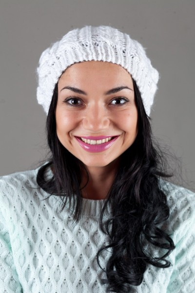 Женская вязанная шапка W-Luxury 9198S-74
