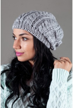 Женская вязанная шапка W-Luxury 9197S-3