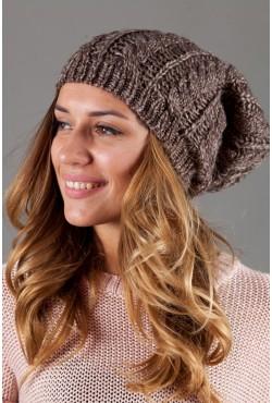 Женская вязанная шапка W-Luxury 9198S-915
