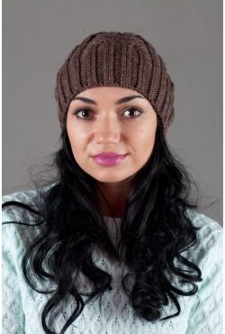 Женская вязанная шапка W-Luxury 630S-15