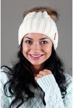 Женская вязанная шапка OdysseyMarsel-Milk