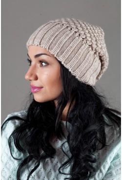 Женская вязанная шапка W-Luxury 9155S-76