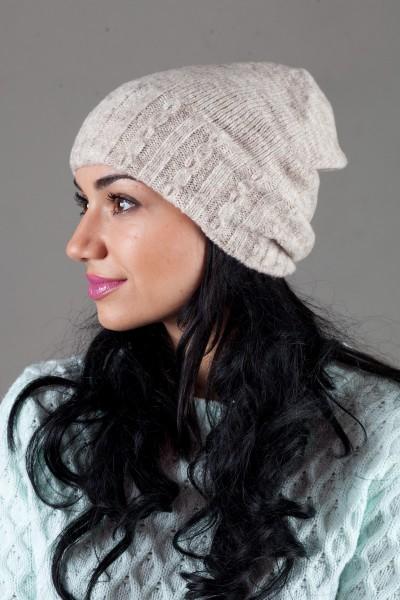 Женская трикотажная шапка W-Luxury 9194S-76