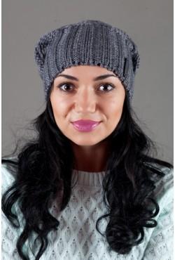 Женская вязанная шапка OdysseyIsabella-Grey