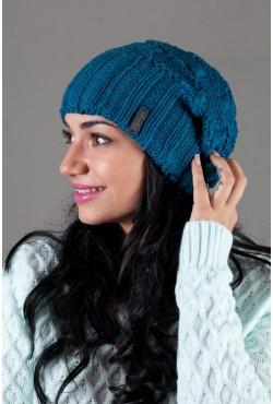 Женская вязанная шапка OdysseyIsabella-Blue