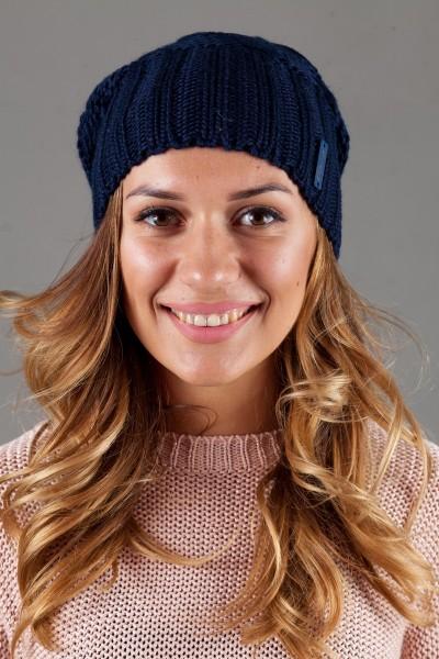 Женская вязанная шапка OdysseyIsabella-Indigo