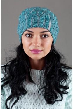 Женская вязанная шапка OdysseyKvant-Light blue