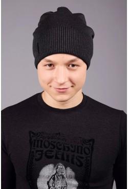 Мужская трикотажная шапка 100 gray