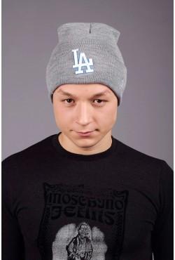 Мужская шапка Los Angeles Grey