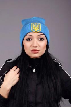 зимние шапки, Женская трикотажная шапка Ukraine 3