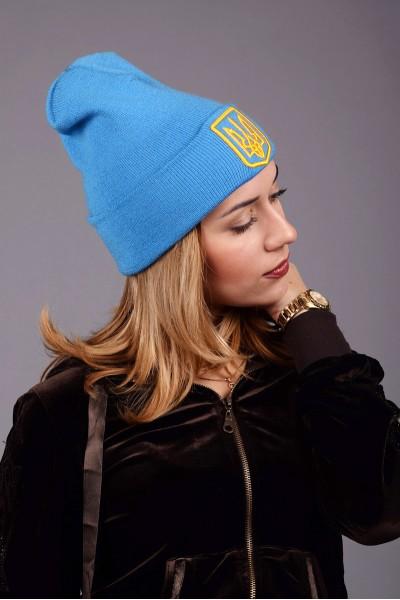Женская трикотажная шапка Ukraine 3