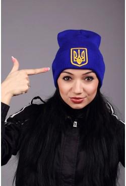 Женская трикотажная шапка Ukraine 4