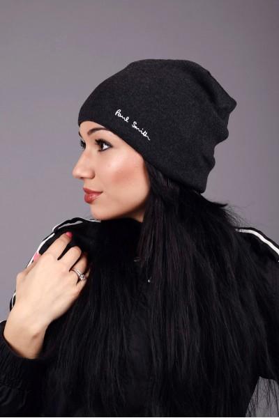Женская шапка Paul Smith Dark Grey