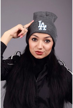 Женская шапка Los Angeles Dark Grey