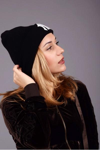 Женская шапка New York Black