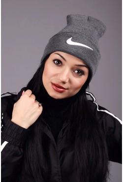 Женская спортивная шапка Nike Grey