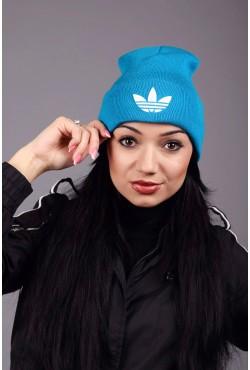 Женская спортивная шапка Adidas Blue