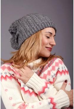 Женская вязаная шапка Marshe Grey