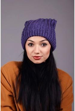 Женская вязаная шапка Marshe Fiolet
