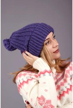 Женская вязаная шапка Marshe-S Fiolet