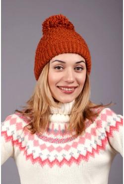 Женская вязаная шапка 64S-C98