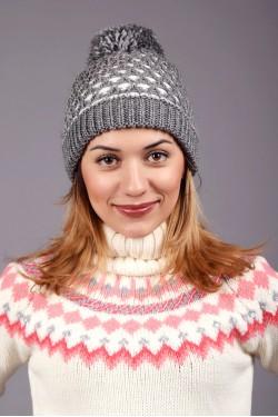 Женская вязаная шапка 63S-C1