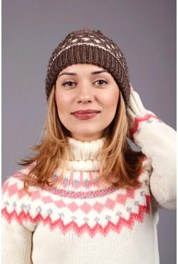 Женская вязаная шапка 63S-C7