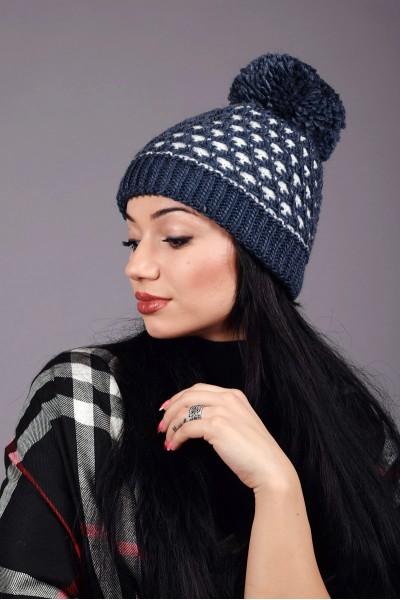Женская вязаная шапка 63S-C4