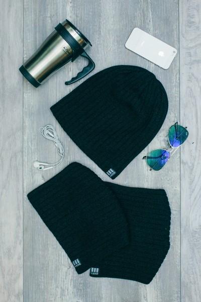 Мужская трикотажная шапка Ozzi32-Black