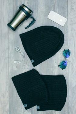 Мужская трикотажная шапка Ozzi32-Brown
