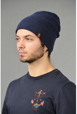 Мужская трикотажная шапка ozzi-95-blue-M