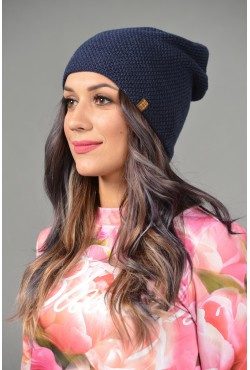 Женская трикотажная шапка ozzi-95-blue-W