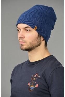 Мужская трикотажная шапка ozzi-96-blue-M
