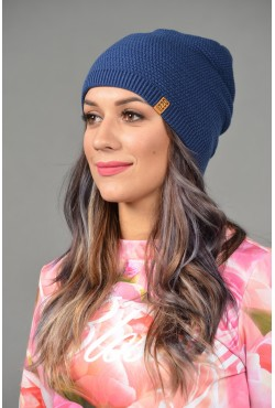 Женская трикотажная шапка ozzi-96-blue-W