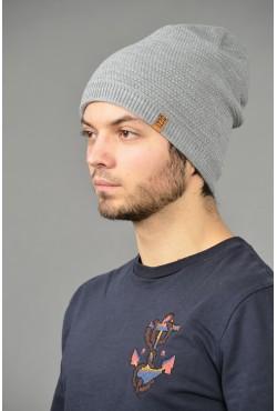 Мужская трикотажная шапка ozzi-96-gray-M