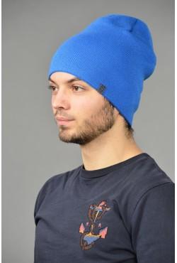Мужская трикотажная шапка ozzi-18-l-blue-M