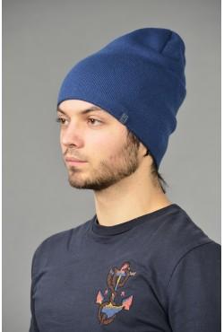 Мужская трикотажная шапка ozzi-18-blue-M