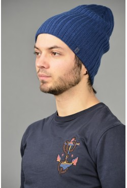Мужская трикотажная шапка ozzi32-blue-M