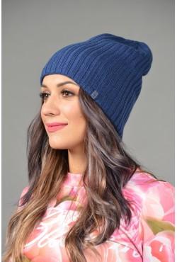 Женская трикотажная шапка ozzi32-blue-W