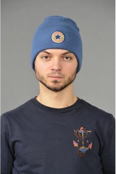 Мужская трикотажная шапка Converse-Denim-M