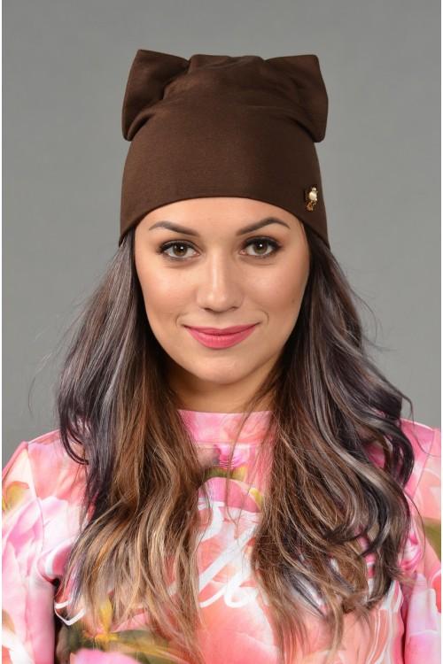 Женская трикотажная шапка Odyssey-TR-Be-brown