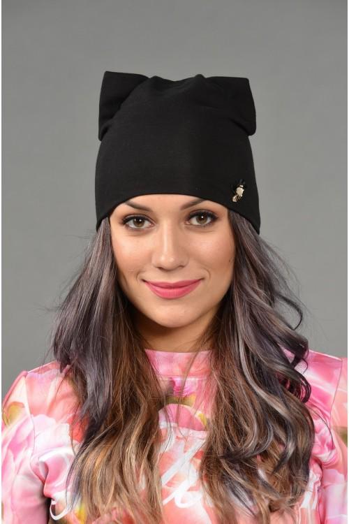 Женская трикотажная шапка Odyssey-TR-Be-black