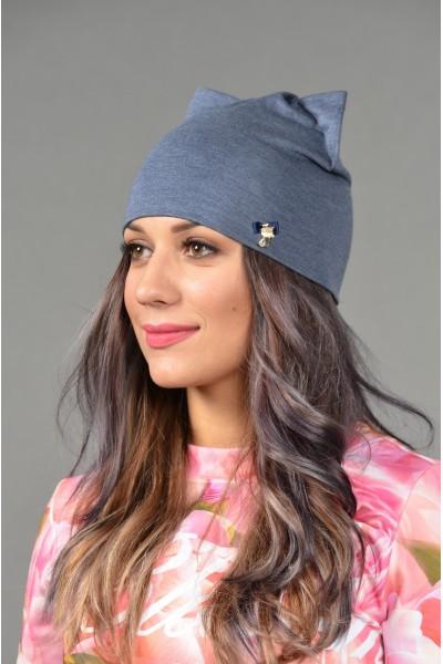 Женская трикотажная шапка Odyssey-TR-Be-denim